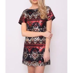 Dresses & Skirts - Aztec sequin dress.
